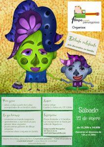 Cartel Dibujo relajante en familia.pages