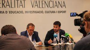 Miguel Soler junto a Vicent Marzà en una rueda de prensa / Cadena Ser