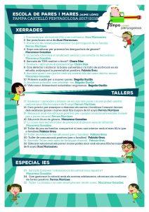 Oferta de charlas y cursos para madres y padres socios de las AMPA ESCUELA DE PADRES Y MADRES JAIME LÓPEZ (2017 / 2018)