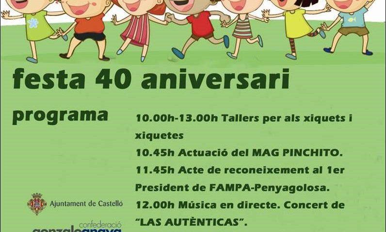 Programa Festa 40 aniversari de FAMPA