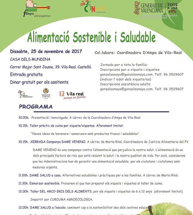 Cartell alimentació sostenible i Saludable