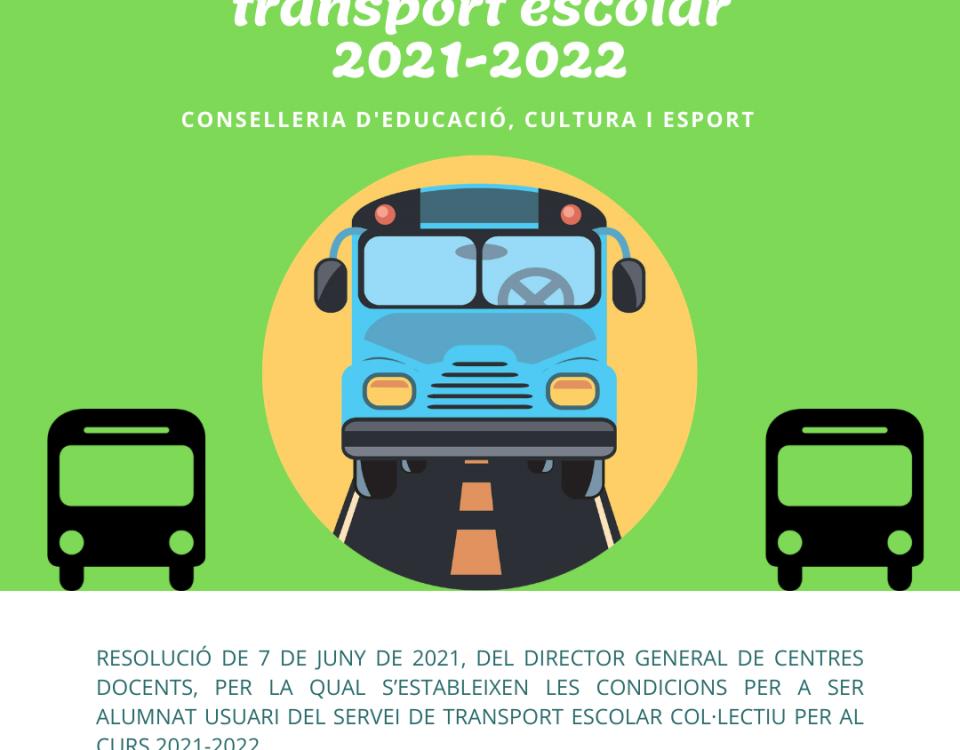 Ajudes per al transport escolar 2021-2022